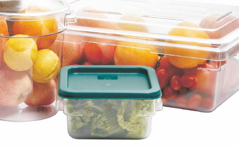 Clear Polycarbonate Square Food Storage Container