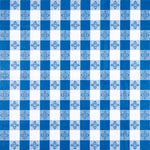 Oblong Tablecloth Blue
