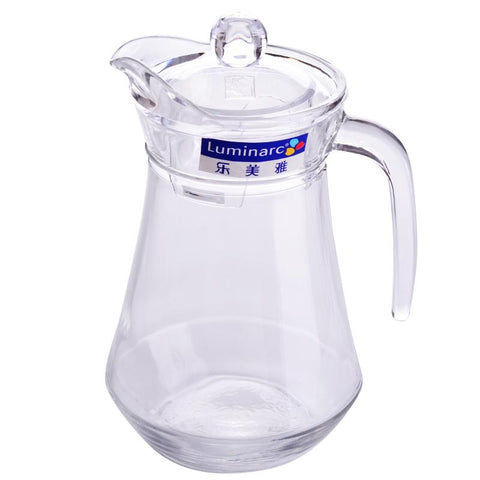 Glass Water Pitcher with Handle 1.3L