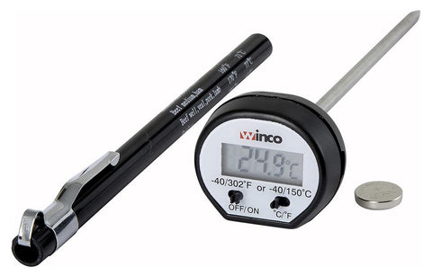 "Digital Thermometer with 15/16"" LCD and 4-3/4"" Probe"
