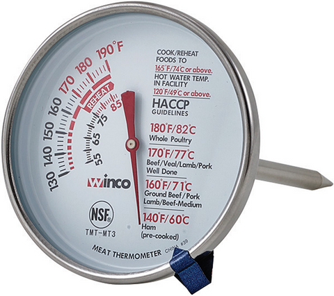 "Meat Thermometer, 3"" Dial, 5"" Probe"