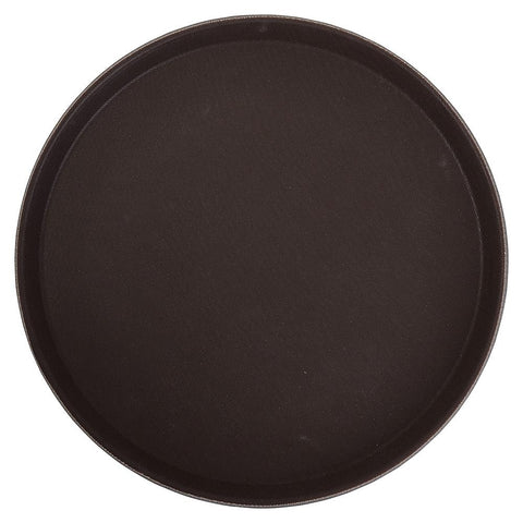 Easy Hold Rubber Lined Plastic Round Tray