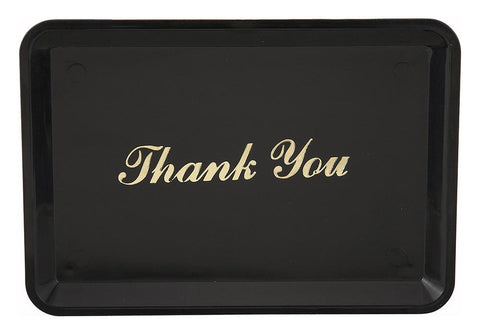 "Tip Tray with ""Thank You"" Gold Imprint"