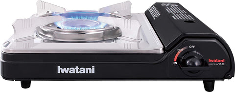 Iwatani 1-Burner 'Cassette Feu' Portable Butane Gas Stove with Carrying Case, 12000 BTU/hr
