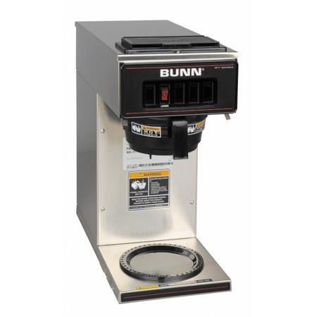 Bunn VP17-1 Stainless Steel 12 Cup Pourover Coffee Brewer with 1 Warmer