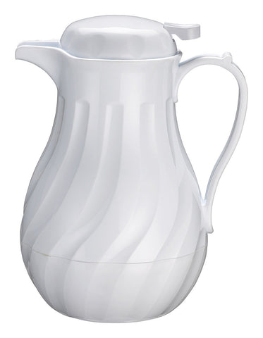 Insulated Beverage Server 64oz White Swirl Pattern