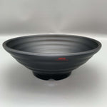 "Wide Tapered Black Melamine Bowl (9"" Dia.)"