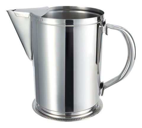 Water Pitcher in Stainless Steel with Ice Guard