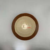 "Dipped Brown Rim Melamine Bowl (8"" Dia.)"