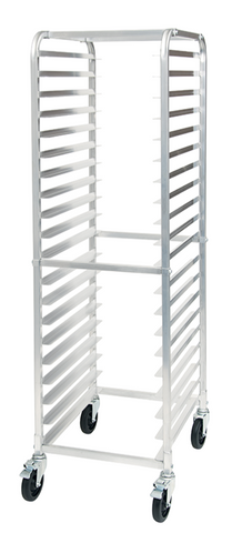 20-Tiered Aluminum Sheet Pan Rack with Brakes