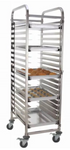 20-Tiered Stainless Steel Sheet Pan Rack with Brakes