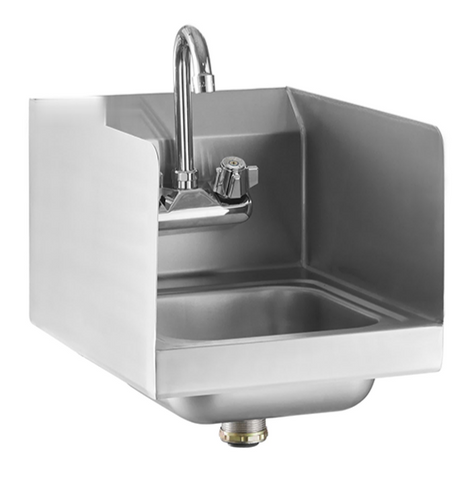 Wall Mounted Hand Sink with High Board