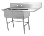 Two Compartment Sink with Right Drainboard