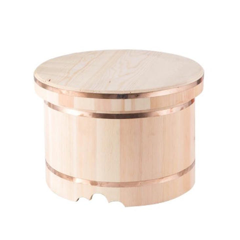 Ohitsu Japanese Wooden Rice Container