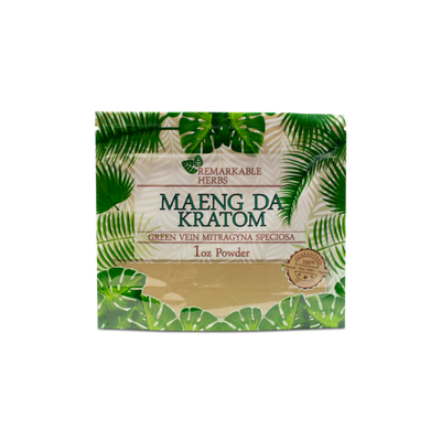 REMARKABLE KRATOM POWDER - GREEN MAENG DA