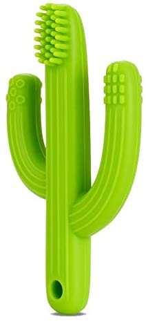Ana Baby Cactus Shaped Teething Toothbrush, Suitable for 3+ Months, BPA Free