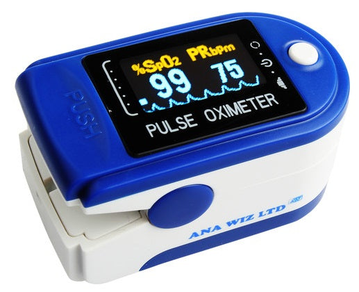 Finger Pulse Oximeter with Colour Waveform Display