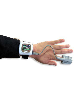 Wrist Watch Finger Pulse Oximeter CMS50F + Data Storage + Software