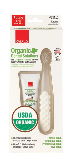 Radius Canine Organic Dental Solutions Kit - Puppy