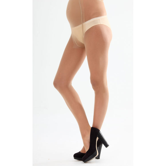 Emma Jane Glossy 20 Denier Maternity Tights - Natural