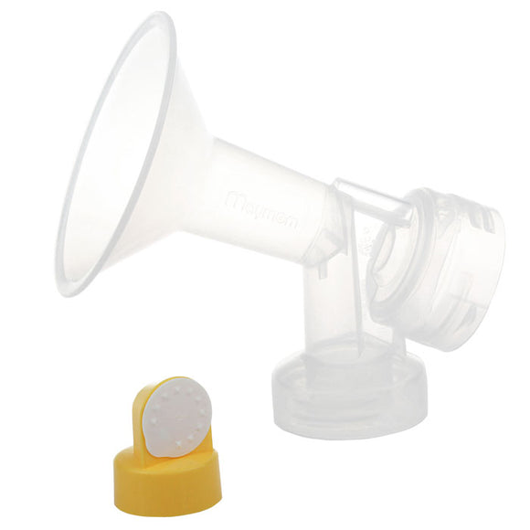 One-Piece Breastshield with Valve, Membrane and adaptor for Spectra S1, S2 and M1 Breast Pumps