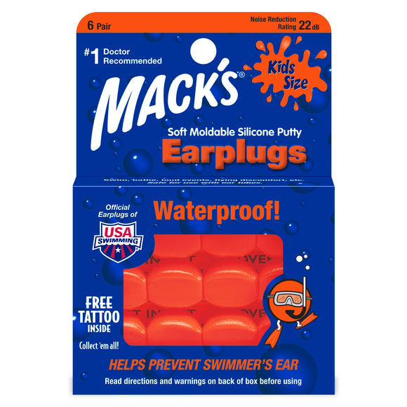 Mack's - Soft Moldable Silicone Putty Earplugs Kids Size