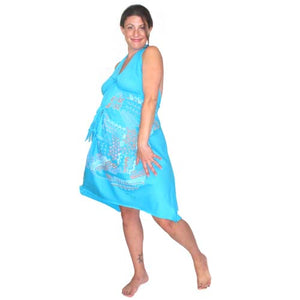 Pretty Pushers Kate Neckel Maui Birthing Gown Set - Turquoise
