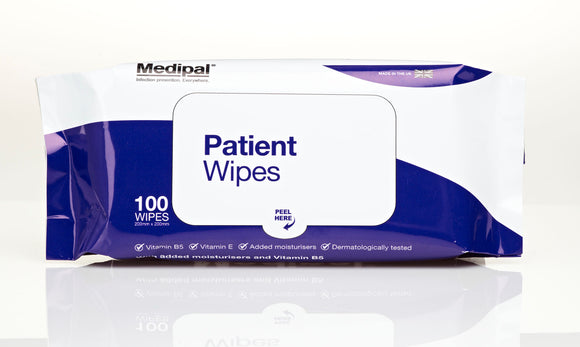 Patient Care Wipes - 100 Sheets - Soft Pack