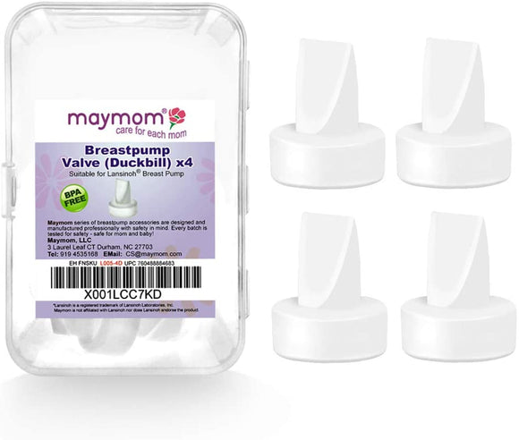 Maymom Pump Valve for Lansinoh Pumps; Duckbills to Replace Lansinoh Pump Valves; Retail Packaging Factory Sealed. 4pc/pk