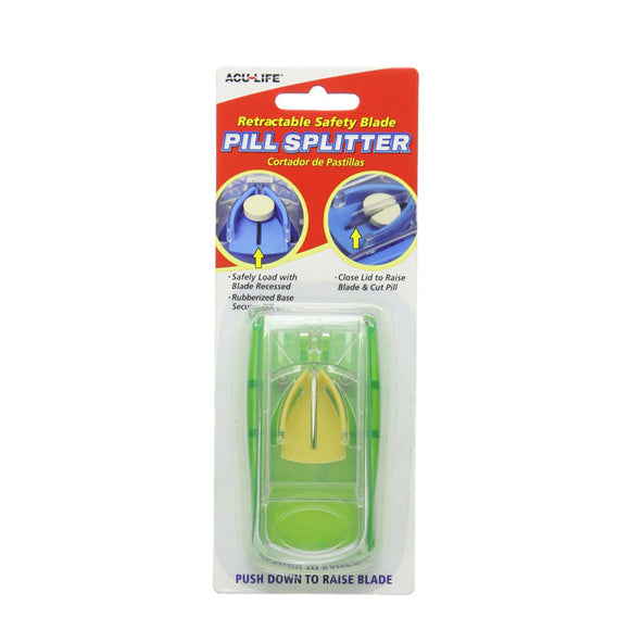 ACU-LIFE Retractable Safety Blade Pill Splitter
