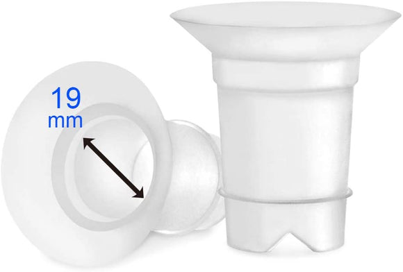 Maymom Flange Inserts 19 mm for Medela and Spectra 24 mm Shields/Flanges.
