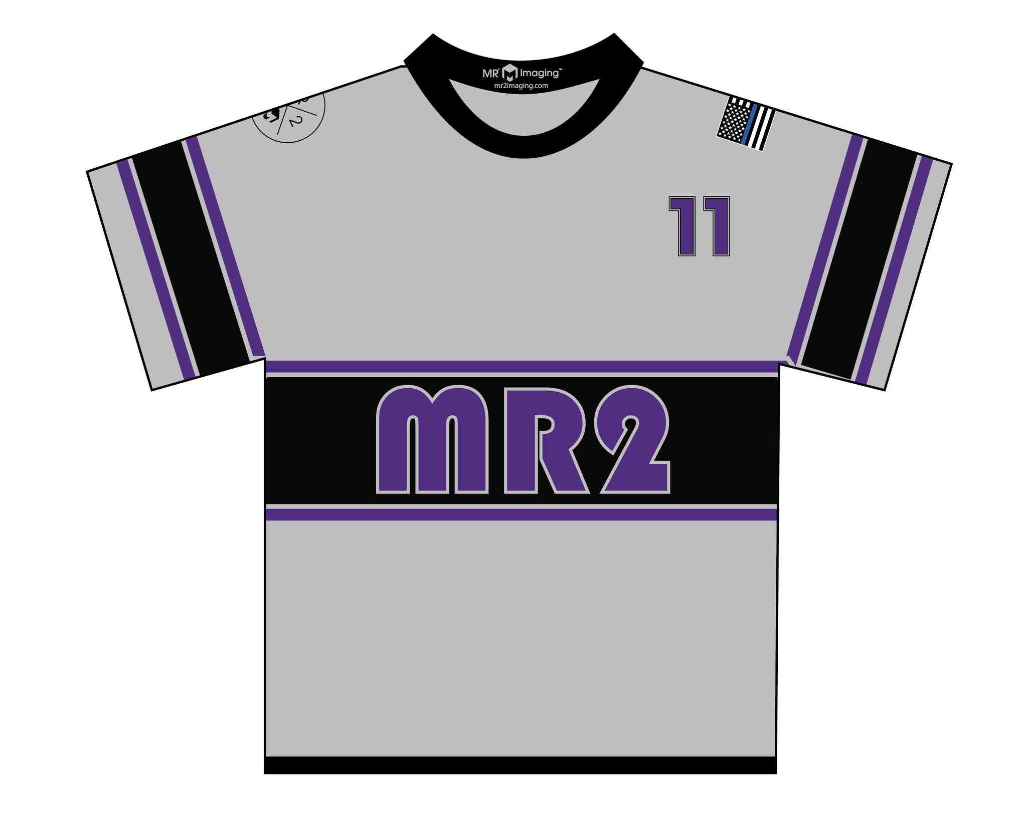 MR2 Selects SB Sublimated Gray Jersey