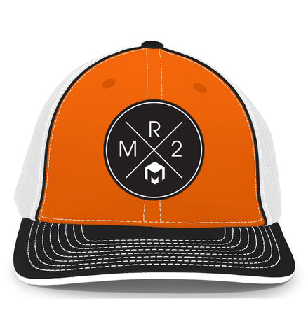 MR2 | Orange, Black & White Flexfit Hat