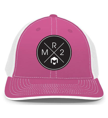 MR2 | Pink & White Flexfit Hat