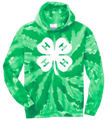 Gloucester County 4-H Clover Tie-Dye Hoodie