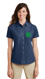 Gloucester County 4-H Clover Ladies SS Denim Shirt