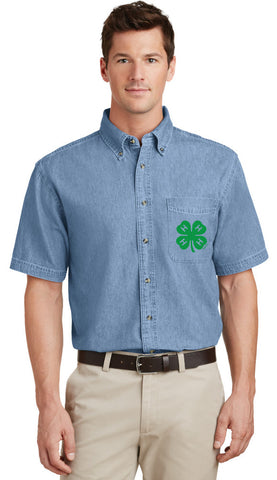 Gloucester County 4-H Clover Men's SS Denim Shirt