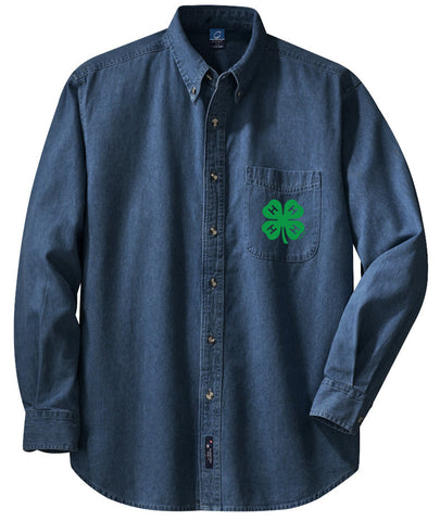 Gloucester County 4-H Clover Men's LS Denim Shirt