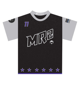 MR2 Softball Sublimated Jersey-Black/Purple