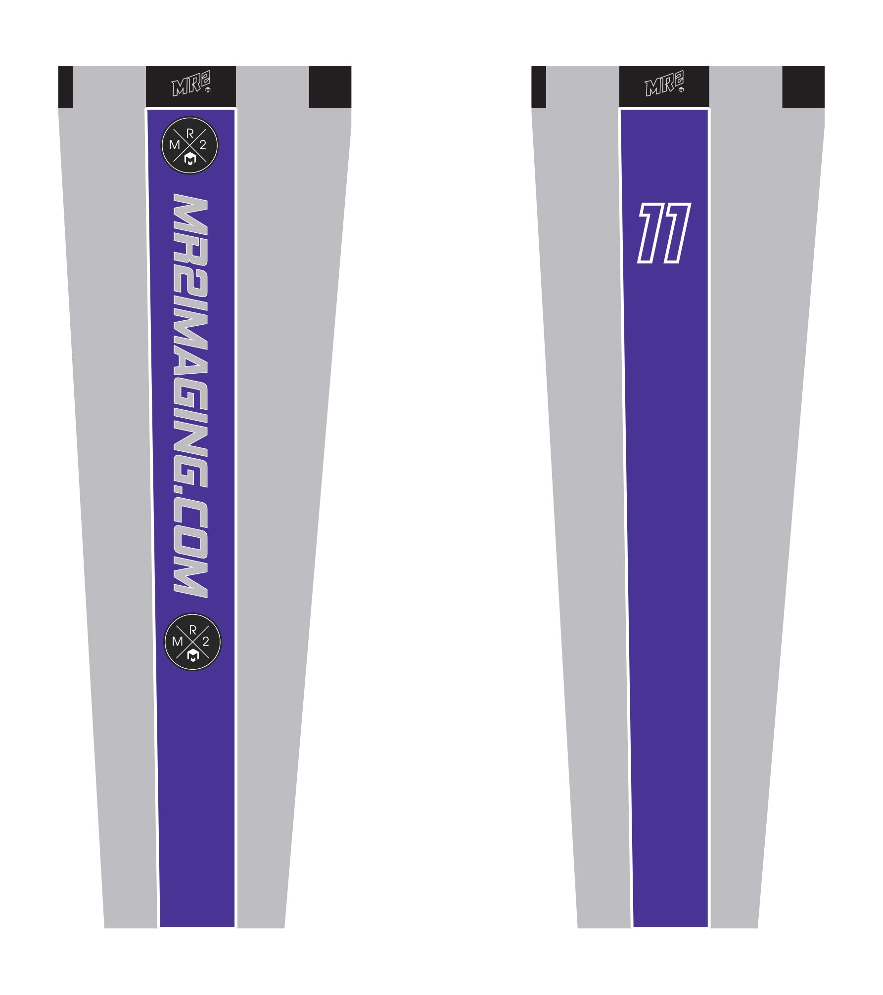 MR2 Softball Sublimated Baseball Pants-Gray