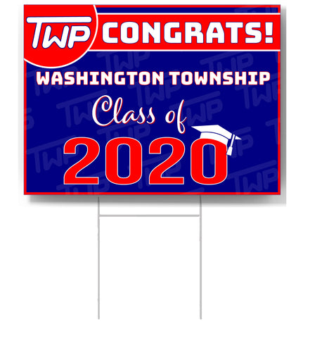 TWP Class of 2020 Lawn Sign