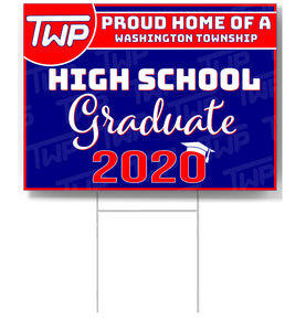 TWP High School 2020 Graduate Lawn Sign