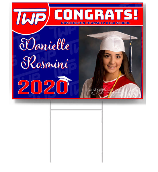 TWP CUSTOMIZED Graduate Lawn Sign
