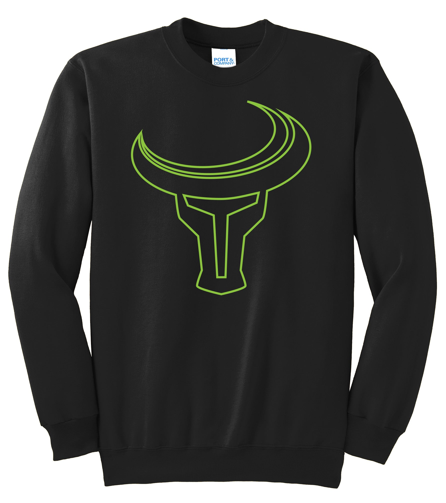 TORO | Outline Logo Crew-neck - Black