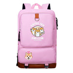 Sac à Dos Rose Shiba Inu Fan Club Multi-poche