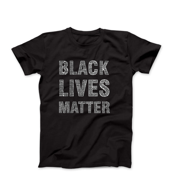 BLM Say Their Names Black Tee