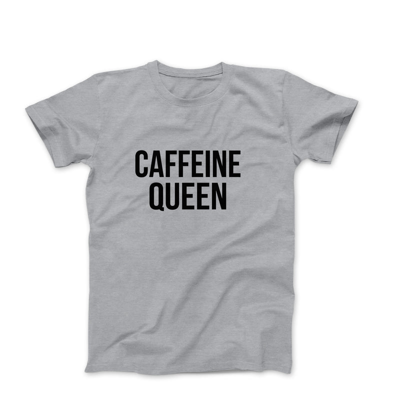 Caffeine Queen Black Oversized Women's Graphic Tops