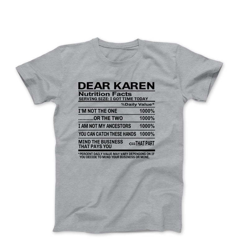 DEAR KAREN HEATHER GREY SHIRT