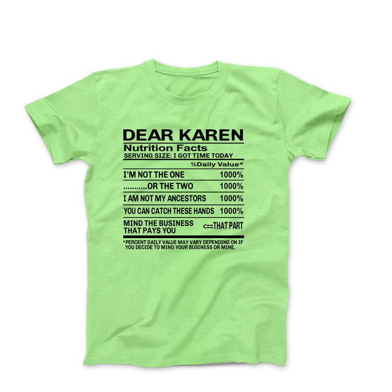 DEAR KAREN LIME GREEN SHIRT