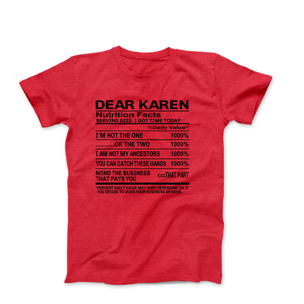 DEAR KAREN RED SHIRT